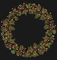 green white and red christmas wreath isolated vector image