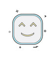 happy emoji icon design vector image vector image