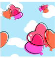 Heart Balloon Seamless Background vector image vector image