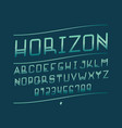 horizon italic font alphabet vector image