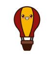 Hot air balloon cute kawaii cartoon vector image