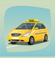 isolated yellow taxi car vector image vector image