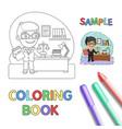 judge coloring page vector image vector image