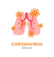 lung and virus cell concept design covid-19 vector image