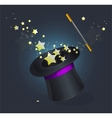 Magic hat on black vector | Price: 1 Credit (USD $1)
