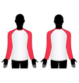 man wear raglan sleeve t-shirt vector image vector image