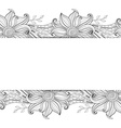 Monochrome Floral Background vector image vector image