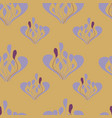 mustard and lavander leaves seameless repeat vector image vector image