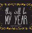 new year wish hand lettering calligraphy isolated vector image vector image
