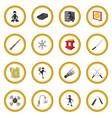ninja cartoon icon circle vector image vector image