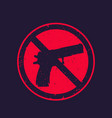 no guns sign with pistol vector image vector image