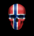 norwegian flag skull vector image vector image