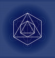 octahedron from metatrons cube sacred geometry vector image vector image