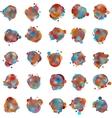 olorful speech bubbles EPS 8 vector image vector image