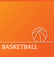 outline basketball background vector image
