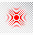 pain circle red icon for medical painkiller drug vector image