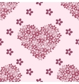 Pink floral heart Vintage background vector image vector image