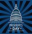 presidents day usa greeting card vector image
