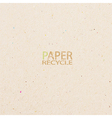 recycled paper craft stick on white background vector image vector image