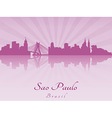 Sao Paulo skyline in purple radiant orchid vector image vector image
