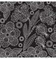 Seamless floral pattern in black and white color vector image vector image