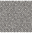 Seamless Hand Painted Concentric Hexagon vector image vector image