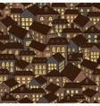 seamless houses background vector image vector image