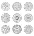 Set of hand drawn circles logo design elements vector image vector image