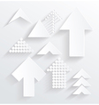 Set of white different paper arrows vector image vector image