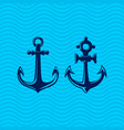 set sea anchors vector image