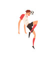 soccer player with ball professional football vector image vector image