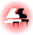 stylized black and white grand pianos flat style vector image