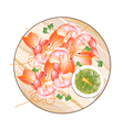 Thai Grilled Prawn with Spicy and Sour Sauce vector image vector image