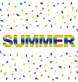 triangular summer vector image