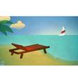Vintage beach card vector image vector image