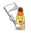 with flag swim fin mascot cartoon vector image