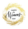women day card text on circle background vector image vector image
