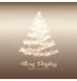 Christmas shining tree vector image