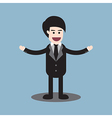 businessman welcome standing vector image