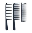 Professional comb icons barbershop vector image