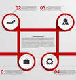 Abstract infographic design template vector image vector image