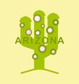 arizona t-shirt design print typography label vector image
