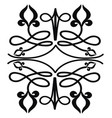 beautiful black and white traditional drawing vector image vector image