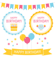 birthday elements set vector image