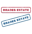 Brades Estate Rubber Stamps vector image vector image
