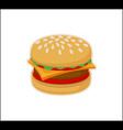 burger icon template isolated on white background vector image vector image
