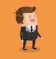 businessman smiling cartoon vector image