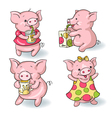 Cartoon pigs vector image vector image