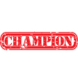 Champion stamp vector image