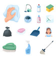 cleaning and maid cartoon icons in set collection vector image vector image